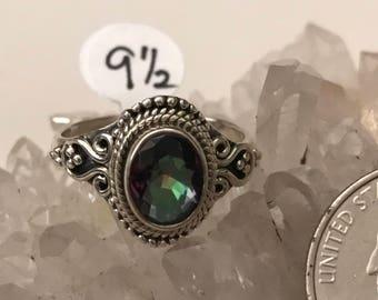 Mystic Topaz Ring, Size 9 1/2