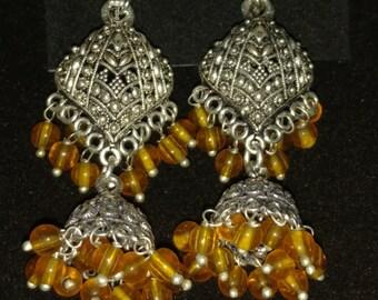 Honey Gold Tassel Earrings