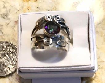 Mystic Topaz Ring, Size 8