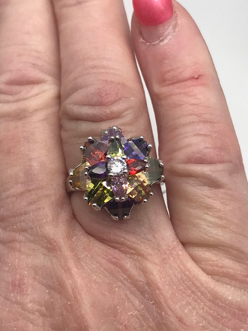 CZ Crystal Ring Size 8 12