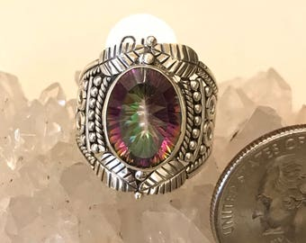 Mystic Topaz Ring, Size 8 1/2
