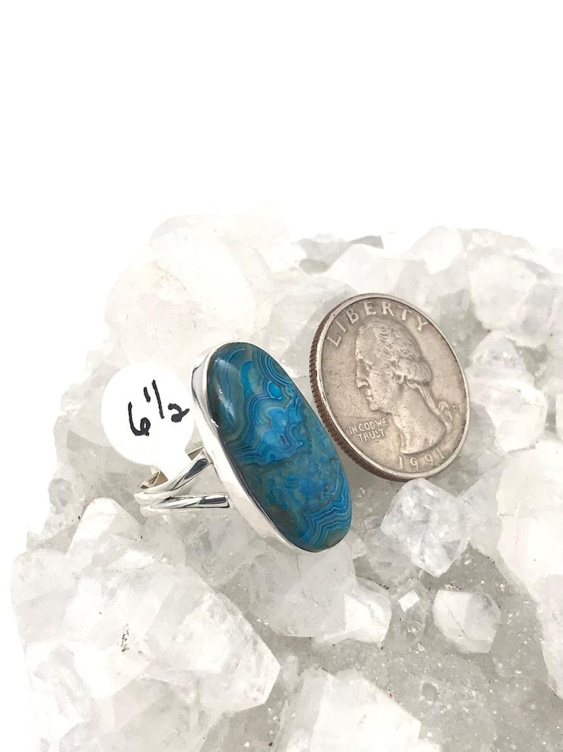 Size 6 12 Mexican Blue Laguna Lace Agate