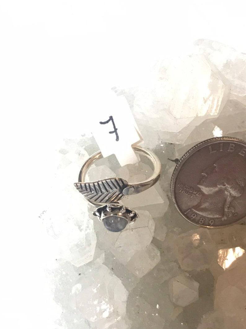 Moonstone Posy Ring Size 7-Adjustable