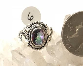 Mystic Topaz Ring, Size 6