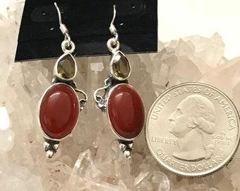 Carnelian and Citrine Earrings