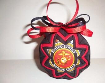Handmade United States Marine Corps Fabric Ornament