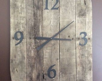 Large wooden clock