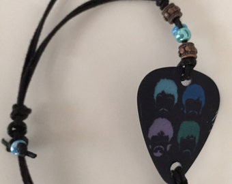 Beatles guitar pick bracelet