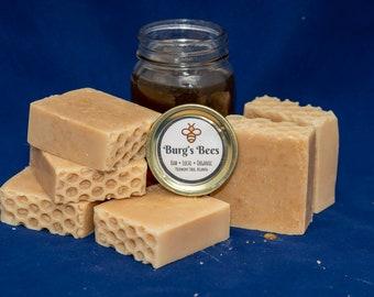 Honey Soap, Handmade, Raw, Vegan, Pure. Honey Bee Approved