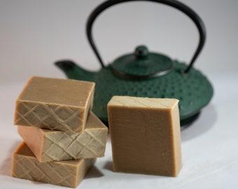 Green Tea and Turmeric All Natural Soap - For Sensitive Skin, Vegan