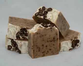 Exfoliating Organic Coffee Soap, Natural Caffeine to Wake Up Skin!