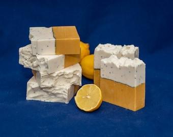 Lemon Poppy Seed. Refreshing, Exfoliation, Bright scent Handmade Soap