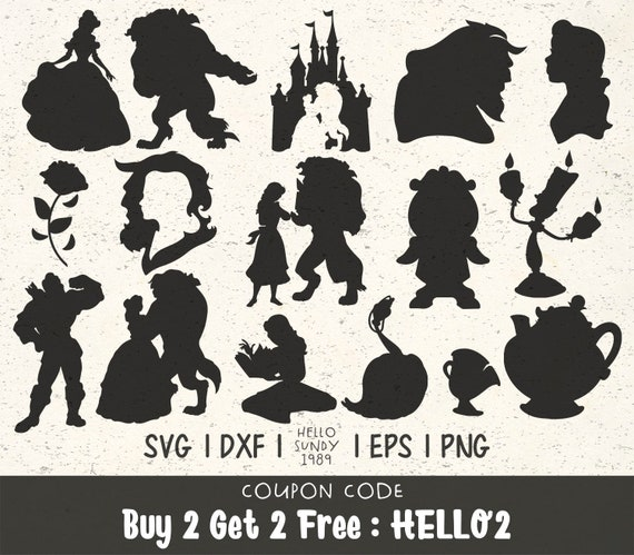 Beauty And The Beast Clipart Svg Files For Cricut Svg Files Etsy
