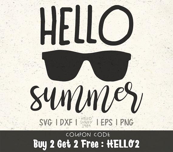 Summer Svg Hello Summer Svg Clipart Svg Files For Cricut Svg Etsy