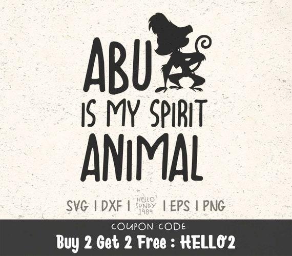 Abu Is My Spirit Animal Svg Disney Aladdin Quote Clipart Svg Etsy