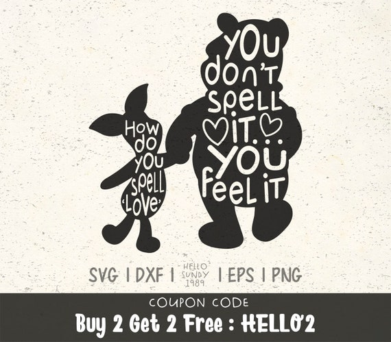 How Do You Spell Love Svg Winnie The Pooh Quote Clipart Svg Etsy