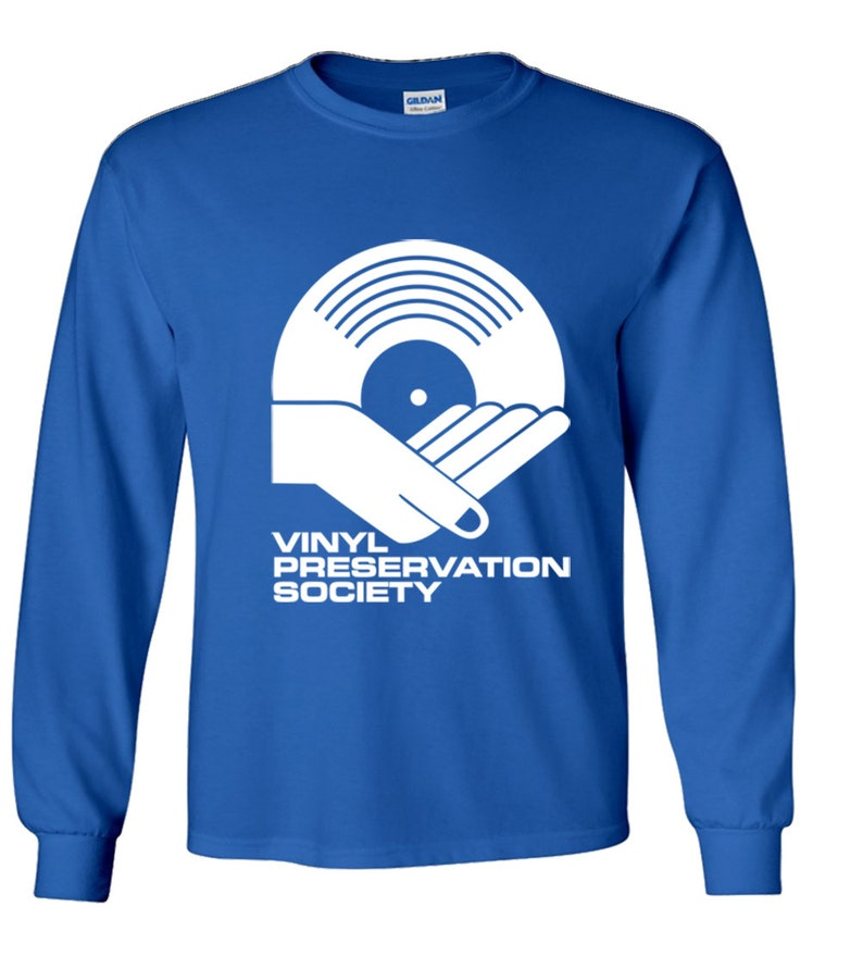 01fc286a Vinyl Preservation Society Tee Shirt | Etsy