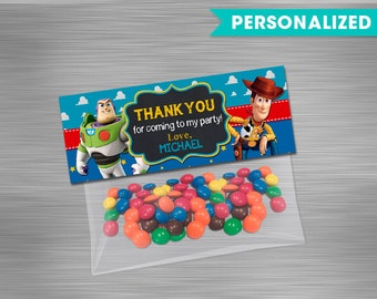 Toy Story Bag Toppers Print Yourself, Toy Story Printable Bag Toppers, Toy Story Favor Bag Topper, Toy Story Party, Toy Story Birthday