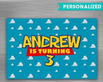 Toy Story Backdrop Print Yourself Printable Banner Big Birthday