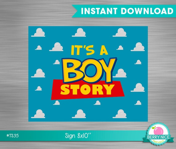 Toy Story Baby Shower Sign Print