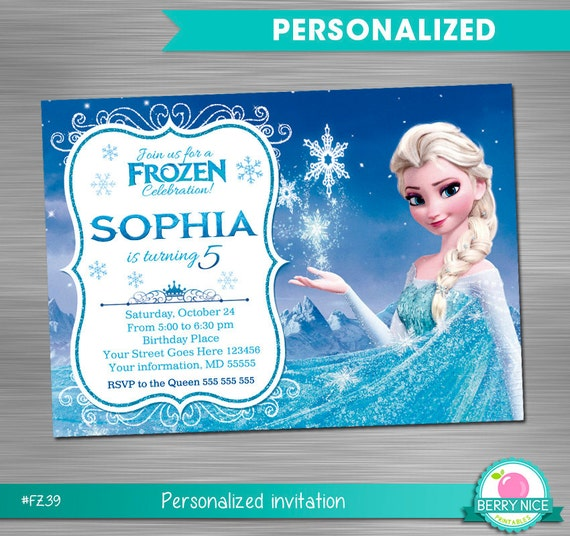 FROZEN INVITATION Frozen Birthday Invitation Party