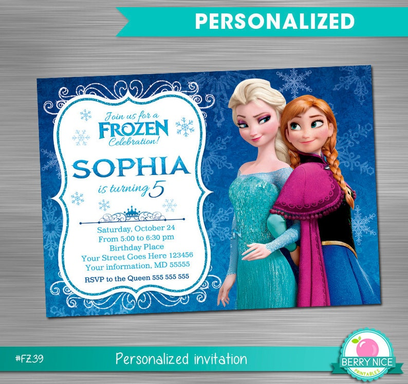 graphic relating to Printable Frozen Birthday Card identified as FROZEN INVITATION, Frozen Birthday Invitation, Frozen Occasion Invitation, Frozen Printable Invitation, Frozen Do it yourself Invitation
