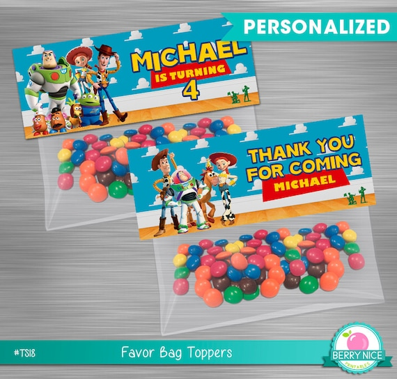 graphic about Printable Bag Toppers titled Toy Tale Bag Toppers Print You, Toy Tale Printable