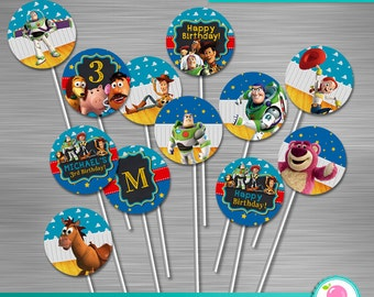 Toy Story Cupcake Toppers DIY, Toy Story, Toy Story Printable Cupcake Toppers, Toy Story Party Circles, Toy Story Party, Toy Story Birthday