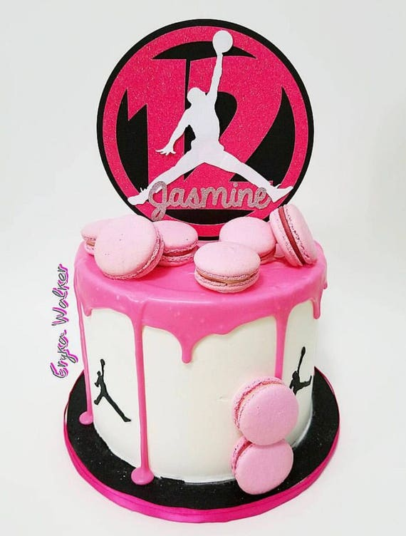 Brilliant Custom Michael Jordan Jumpman Inspired Personalized Cake Etsy Funny Birthday Cards Online Elaedamsfinfo