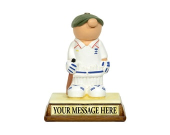 Personalised Cricket Gift - Present for a cricketer hero! Gift Boxed Birthday For Him Dad Son Boy Christmas Valentine Cake Topper Custom