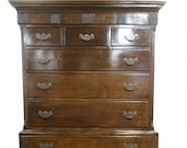 Late 18th Century Welsh Oak Two Stage Tall Boy Chest Upon Chest