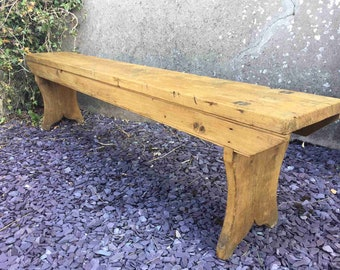 Rustic Old Pine Bench