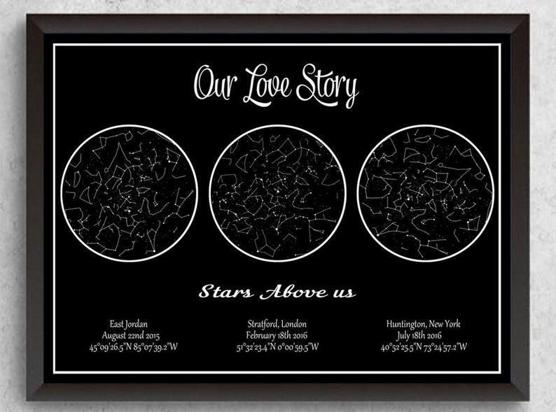 Birthday Star Map Download Custom By Date