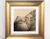 Dawn Earrings - Hand-drawn pencil graphite sheet on A4 paper - Drawing erotic and sensual art