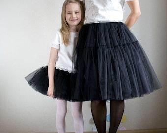 Very Fluffy Full Layered Petticoat Tulle Skirt, Tutu Bridesmaid, Wedding, Tiered skirt