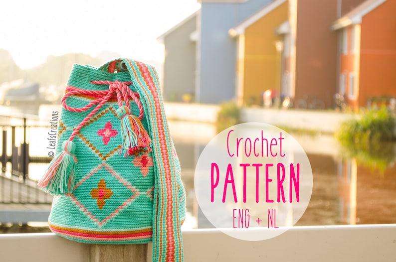 Mochila Bag Pattern Englishamp; Crochet With Flowers Tapestry Dutch CdxrBoe