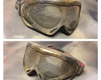 Post apoc style weathered large airsoft goggles