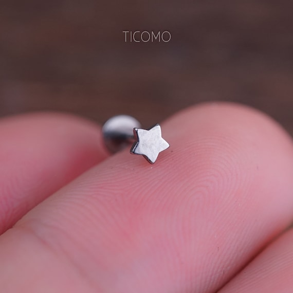 Nose Ring Diamond-Cut 18 GA 14k or Blanc Hoop Cartilage Sparkle Tragus Helix