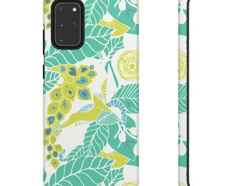 Green Floral Print Phone Case - Green and White Phone Case - Hard Phone Case - Patterned Phone Case - Colorful iPhone Case - Samsung Case