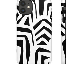 Black and white tribal Print Black Phone Case - Phone Case - Hard Phone Case - Patterned Phone Case - Colorful Case - Phone Case for Samsung