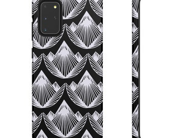 Black and White Geometric Print Phone Case - Black and White Phone Case - Hard Phone Case - Samsung Phone Case - Colorful iPhone Case