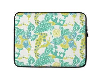 Green Papaya Laptop Sleeve - Macbook 13 inch laptop sleeve - 15 inch HP laptop sleeve - Chromebook - Neoprene - laptop case - laptop cover