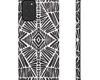 Black and white zebra print Phone Case- Black and White Phone Case - Hard Phone Case - Colorful iPhone Case - Phone Case for Samsung