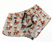 Hipster fox pajama shorts...