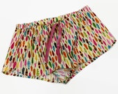 feather pajama shorts, fe...