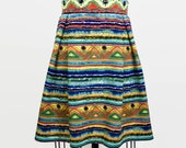 Bright tribal knee length...