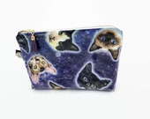 space cat cosmetic bag, c...