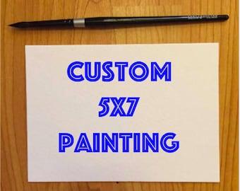 Custom 5x7 Painting Drawing Gift