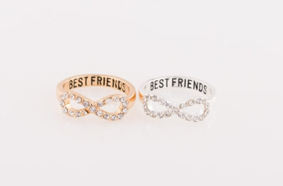 Best Friend Ring Crystal Diamond Ring Stackable Rings