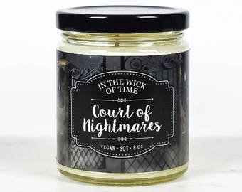 Court of Nightmares| Scented Vegan Soy Candle |